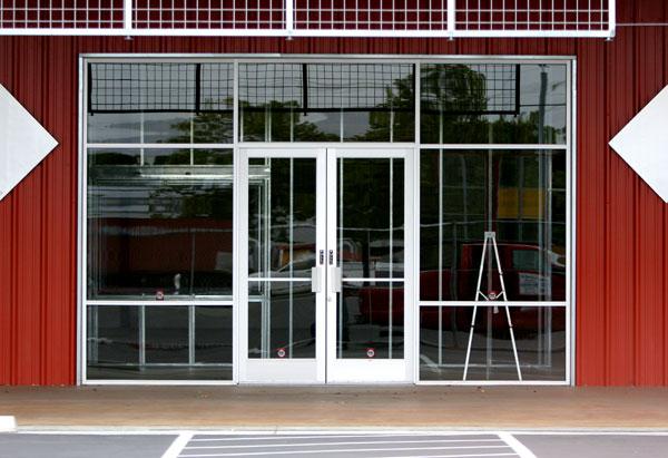 Personnel door photo gallery r s overhead door company for Commercial entry doors