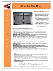 Counter Fire Door Door Specs