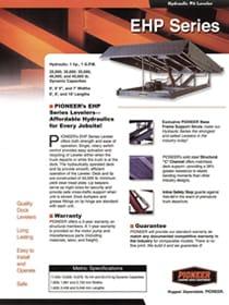 pioneer EHP series brochure